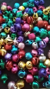 50 x TINY Craft Jingle Bells 5mm Mixed Shades For Crafts Jewellery Making NEW