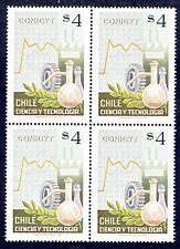 CHILE 1977 STAMP # 919 MNH BLOCK OF FOUR SCIENCE