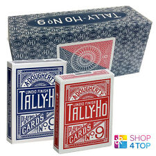 BICYCLE TALLY HO CIRCLE PLAYING CARDS 12 DECKS STANDARD INDEX SEALED BOX CASE