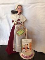 Pilgrim Thanksgiving Barbie w Accessories and Stand