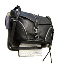 Rebecca Minkoff HT26EJUM08-001 Julian Messenger Bag Black Pebbled Leather NWT