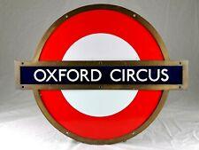 "Original 24"" Oxford Circus London Underground Enamel Sign - Bronze Frame"