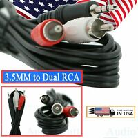 1x 6 Feet 3.5MM to Dual RCA Audio Video Adapter Wire Jack Composite A/V Cable