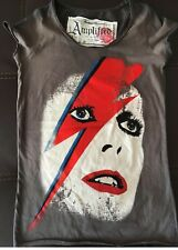 Amplified Vintage David Bowie Women Lightning Bolt T shirt  XSmall RARE!!!!!