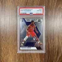 Zion Williamson RC 2019/20 Panini Mosaic #269 Rookie NBA Debut Card PSA 10