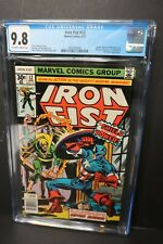 Iron Fist 12 CGC 9.8 Off-White to White Pages Captain America Battle Marvel 1977