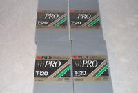 4 Fujifilm XG Pro vhs T-120 new and sealed master recording grade