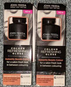2 PACK John Frieda Precision Colour Refreshing Gloss For Warm Brunettes 6 Oz Ea