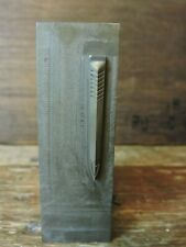 old Historical Vintage heavy Metal PARKER 21 male Clip Die Mold Arrow Park Plant