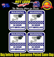 Security camera surveillance warning CCTV Stickers, home office 4 pack 7 Year