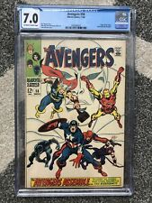 Avengers # 58 CGC 7.0 OW/W Pages 1968 Marvel Comics Origin Vision Joins Team MCU