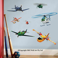 Disney Airplanes Fire&Rescure Wall Stickers Nursery Decal Kids Art Mural Decor