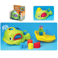 Willie The Whale Bath Shape Sorter Squirting Toy Toddler Children Kids Fun
