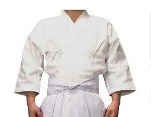 Japanese Fencing Kendo Salt White Kendogi Uniform Clothes Robe Samurai Garment