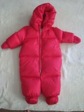 NWT-RALPH LAUREN INFANT BABY GIRLS BUNTING SNOWSUIT CURRANT PINK SIZE 6M~$165
