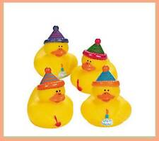 (4) Happy Birthday Rubber Ducks/Duckies~Favors~ Cake Topper~Gift~Decoration~