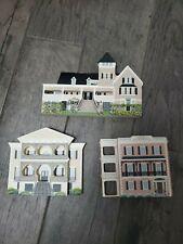 Lot of 3 Shelia's Wooden Houses: the Edmonston, Lace House, Magnolia Plantation