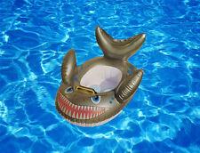 New Children/Kids Swimming Pool Float Boat Toddler Shark Fish Swim Seat UK Stock