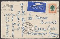 South Africa 1936 picture postcard (birthday greetings) sent airmail to Germany