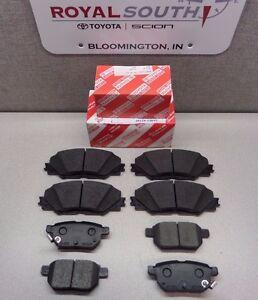 Scion tC 2011 - 2016 Front & Rear Brake Pads Set Genuine OEM OE
