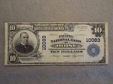 "SERIES OF 1902 $10 PLAINBACK ""PACIFIC NATIONAL BANK"" OF BOISE IDAHO CHARTER10083"