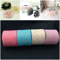 Party Supplies Crafts Star Decor Tulle Rolls Textile Fabric Glitter Sequin