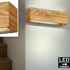 LED Luxus Wand Lampe DIMMBAR Up Down Beleuchtung Arbeits Zimmer Holz Leuchte