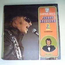 2 x 33T Johnny HALLYDAY Disques LP 12 SUPER HITS LE PENITENCIER -PHILIPS 6680261