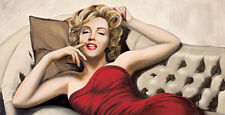 MARILYN MONROE ART PRINT - Sweet Dreams by Will Richmond 40x20 Red Dress Poster