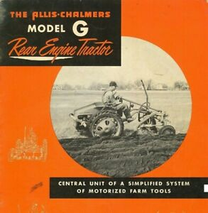 Allis Chalmers Model G Rear Engine Tractor Brochure