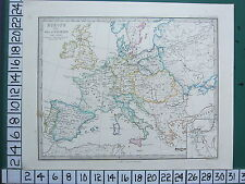 HISTORICAL MAP + TEXT ~ EUROPE IN NAPOLEON ERA BRITAIN NILE DELTA FRENCH EMPIRE