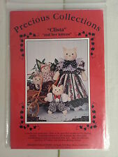Precious Collections CLISTA AND HER KITTENS Pattern / New 1991