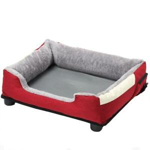 Dream Smart Pet Bed Electronic Heating Cooling Mesh Cushion Medium Fabric Red