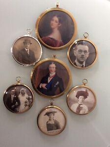Fantastic Vintage  Job Lot Of Brass picture Frames Antique vintage photos in..