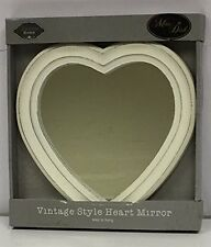 Vintage Style Shabby Chic Wall Mirror Heart Shaped