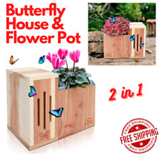 Butterfly House & Flower Pot 2 in 1 Multifunctional Design With Drainage Holes