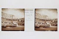 Roma Italia Placca N16 Lente Stereo 45x107mm Vintage 1938