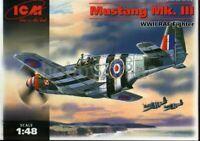 ICM 48123 British fighter Mustang Mk.III WWII 1/48 plastic model kit 205 mm