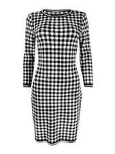 Ralph Lauren DRESS Sweater Black White houndstooth NEW sz XL