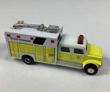 Vintage 1997 Road Champs Boston Fire Dept Truck Yellow Die Cast 07006