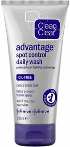 Clean and Clear Advantage Fast Action Daily Wash 150ml Spot Control Oil-Free UK