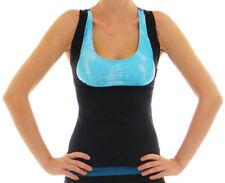 New Black Weight Loss Neoprene Sauna Tank Top Vest Size 10 - 12 Buckle Straps
