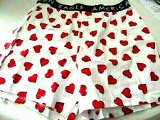 """American Eagle Mens Heart Boxer Shorts Medium Will Fit Waist Size 32""""-34"""""""
