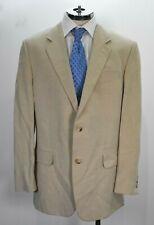 Jaeger Men Notch Lapel Two Button Flap Pocket Silk Blend Career Dress Blazer 44L