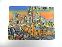 Frankfurt Skyline Germany,Souvenir Magnet Poly 3D Optik,Deutschland