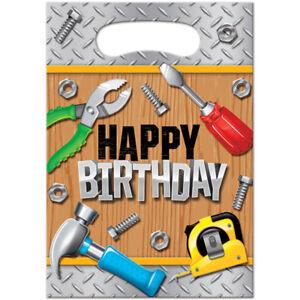 Handyman Tool Birthday Party Supplies Treat Bags