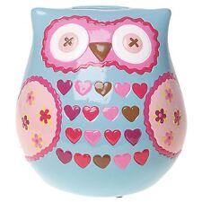 Barney Owl Moneypot Money box cute gift piggy bank blue pink girls present
