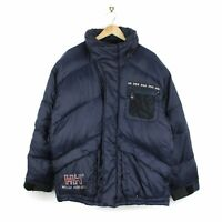 Helly Hansen Vintage 90s Mens Oversized Blue Down Puffer Jacket - Size M