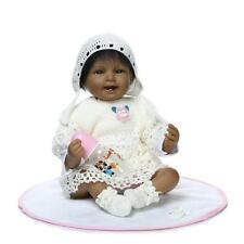 22'' Black Lifelike Reborn Baby Girl Doll Soft Silicone toys Doll kids Gift new