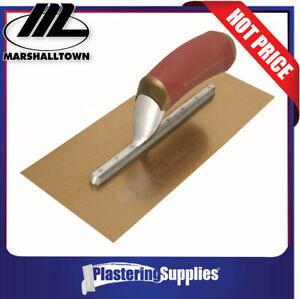 Marshalltown Trowel Finishing PermaShape Golden Stainless DuraSoft Handle 27973